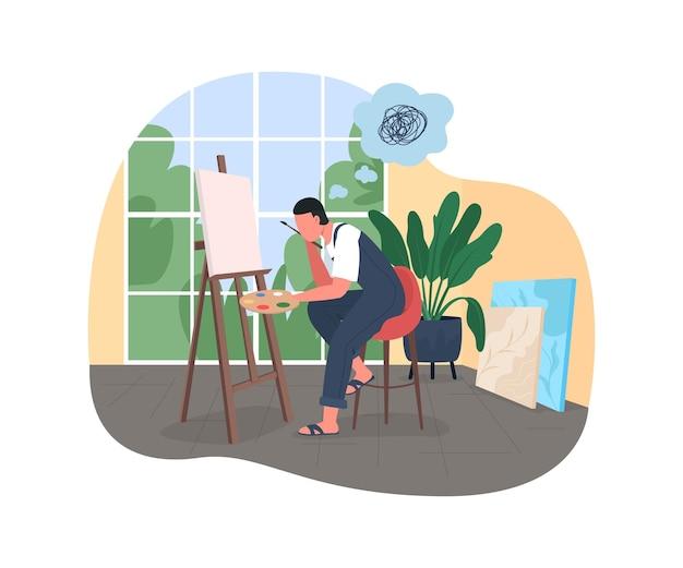 Artist burnout poster illustration.