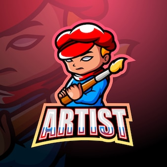 Artist mascot esport illustration