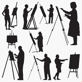 Artist silhouettes