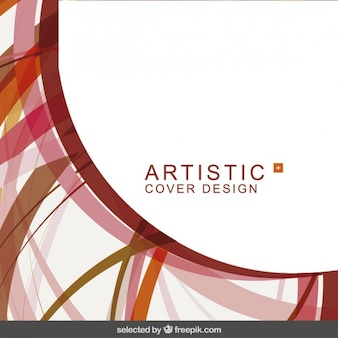 Artistic abstract background in red tones