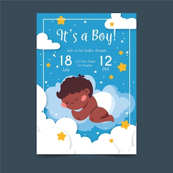 Artistic baby shower invitation