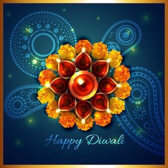 Artistic background of diwali