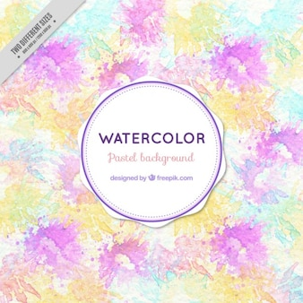 Artistic background with watercolor splashes