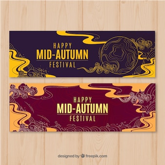 Artistic banners for mid-autumn festival
