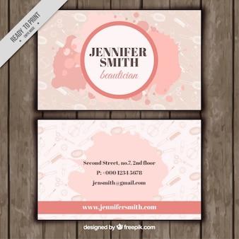 Artistic beautician card