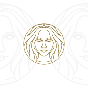 Artistic beauty woman logo design