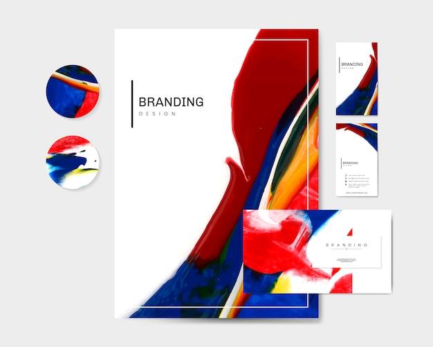 Artistic branding materials