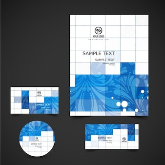 Artistic business stationery