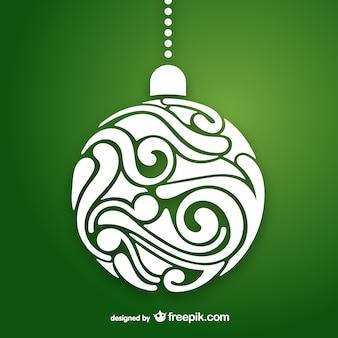 Artistic christmas ball vector