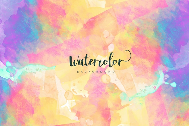 Artistic colorful watercolor background