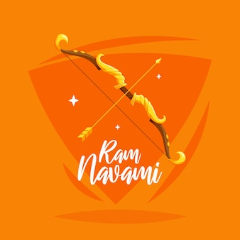 Artistic concept for ram navami day