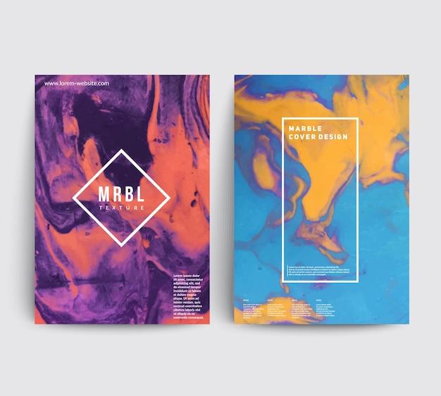 芸術的なカバーデザイン。クリエイティブな流体の色