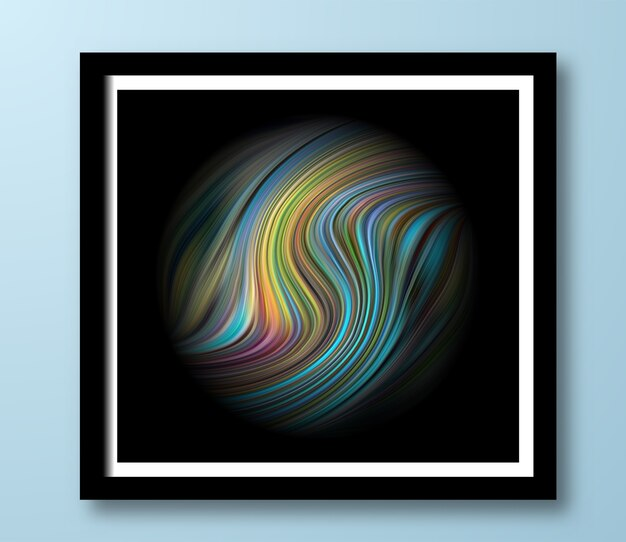 Artistic creative fluid with colorful circle graphic covers design