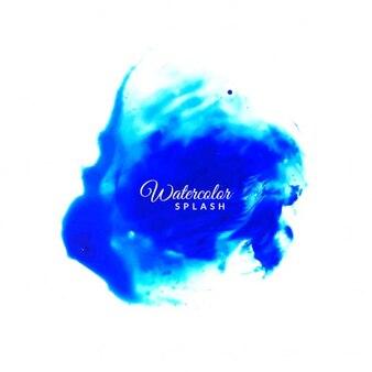Bella blu acquerello splash design sfondo