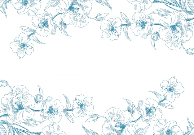 Artistic decorative sketch floral background
