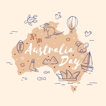 Artistic draw with australia concept