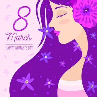 Artistic draw for womens day