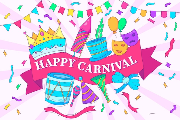 Artistic drawing with carnival
