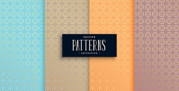 Artistic ethnic style patterns set of four