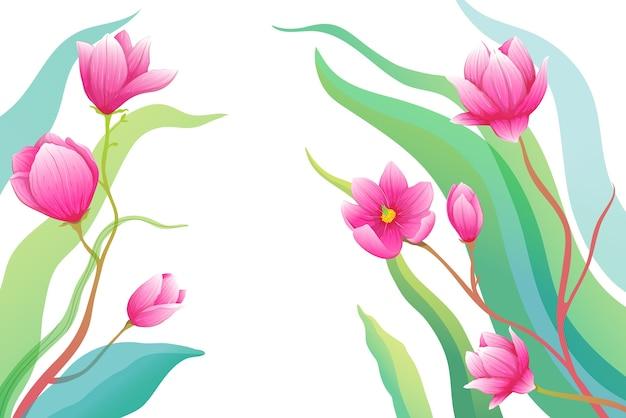 Художественные цветы подробный дизайн.