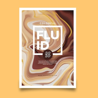 Artistic fluid effect poster template