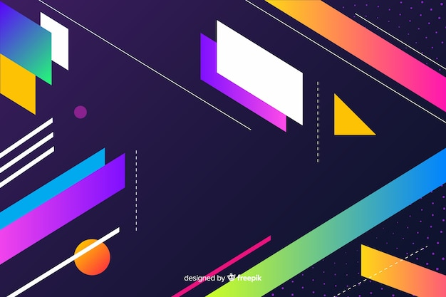 Artistic geometric shapes background