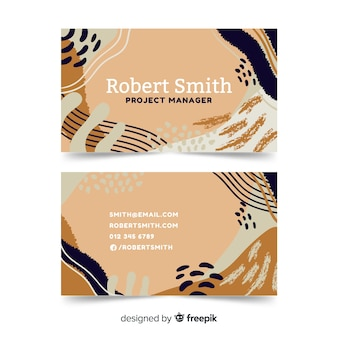 Artistic hand painted visit card template