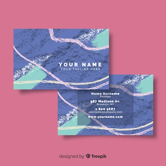 Artistic hand painted visit card