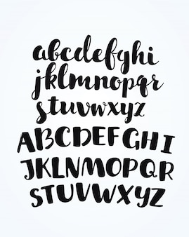 Artistic handdrawn golden font. all the letters are painted in gold texture. italic, bold.  illustration.