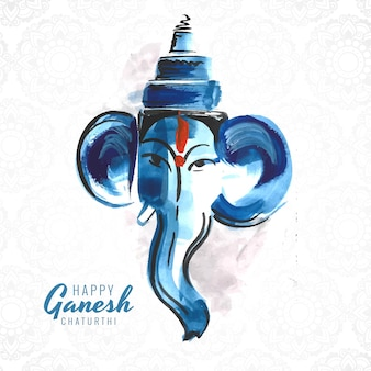Artistic happy ganesh chaturthi creative card background