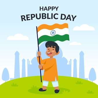 Artistic indian republic day flat design