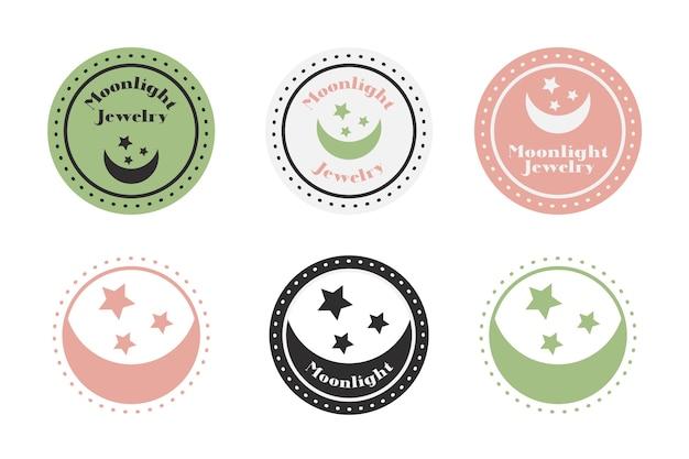 복고 스타일의 예술적 로고 컬렉션