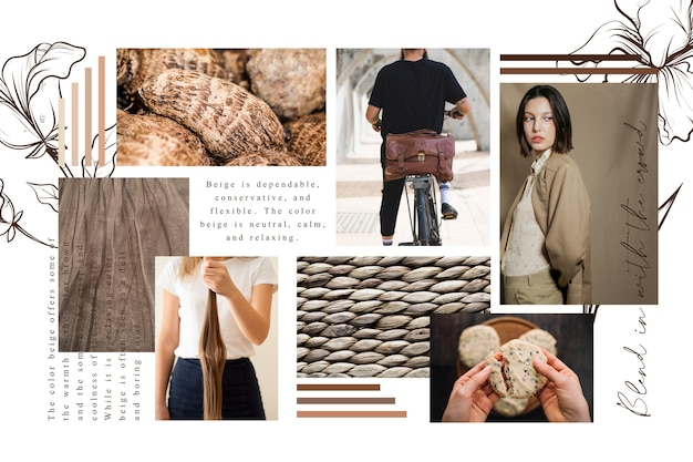 Artistic moodboard collage with pictures