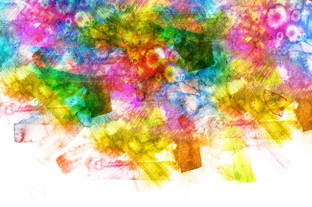 Artistic multicolored hand painted background