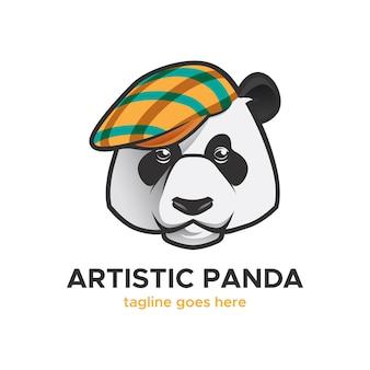 芸術的なパンダのロゴ