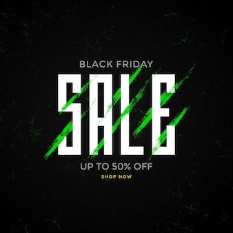 Artistic promotion black friday sale banner
