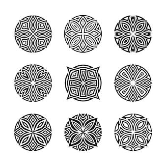 Artistic round ornament vector