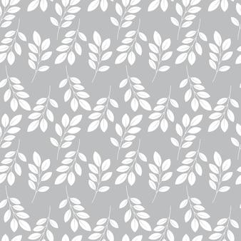 modello artistico senza cuciture con foglie astratte design