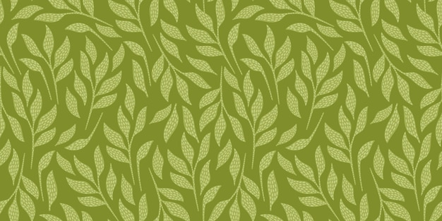 Artistic seamless pattern with abstract leaves. modern design for paper, cover, fabric, interior decor and other users.