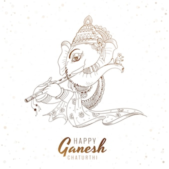 Schizzo artistico ganesh chaturthi festival card background