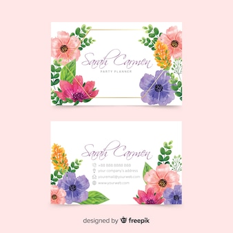 Artistic template design for business card