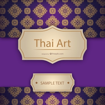 Artistic thai template