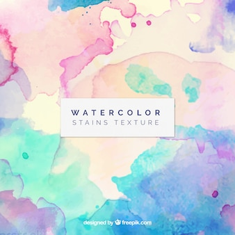 Artistic watercolor background with stains