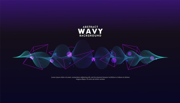 Artistic wave geometric background