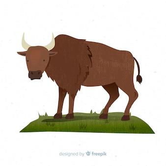 Художественное рисование диких животных буйвола