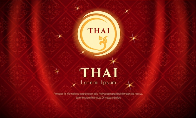 Arts of thailan for background. Premium Vector