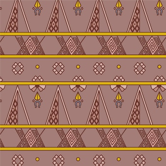 Artstic traditional songket pattern