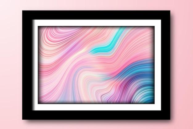 芸術的な渦巻き抽象的な線の背景
