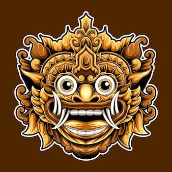 アートワークバロン文化バリインドネシアのデザインイラスト