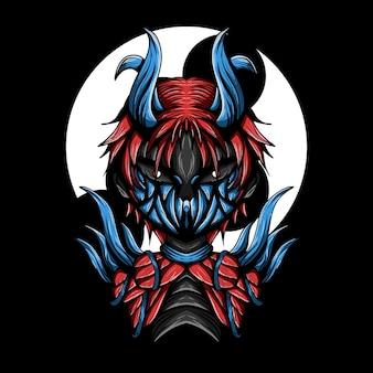 Artwork illustration of devil meat vector
